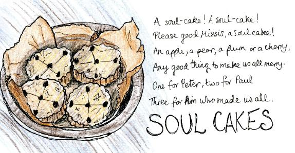soul cakes halloween recipe